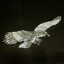 CAR MOTORCYCLE SIDE FENDER BADGE DECORATION DECAL EMBLEM EAGLE CHROME