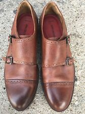 Johnston Murphy Conard Brown Men's Double Monk Strap Shoe Size 10.5 EUC
