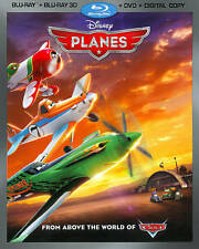 Disney Planes Blu-Ray + 3D + DVD + Digital Copy (w/ Slipcover) - New/Sealed