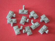 Lego - 10 plaques 1x2 à barre verticale gris clair neuves / REF 4623