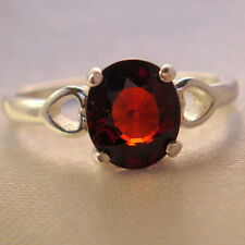 2.20ct Natural  Rare Red Spessartite Garnet Ring