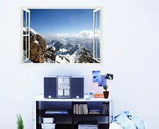 Snow Mountain 3D Window View Removable Wall Sticker Decal Home decor Room Mural