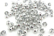 NEW Jewelry Faceted 100 pcs Plating Gray #5040 3x4mm Roundelle Crystal Beads C23