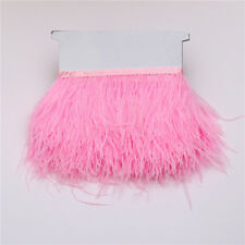 "1/10Yards DIY Natural ostrich feathers ribbon 10-15cm/4-6"" for Trimmings Decor"