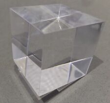 2 x 60mm Large Polished Clear Transparent Perspex Acrylic Cubes Blocks (Pair)