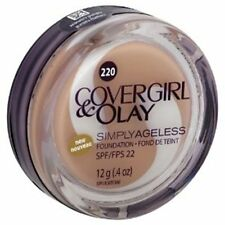NIP COVERGIRL & OLAY SIMPLY AGELESS FOUNDATION # 220 CREAMY NATURAL 12gm SPF 22