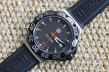 Tag Heuer WAH1110.FT6024 Formula One 1 Watch Men BLACK $1500 MINT CRYSTAL Rubber