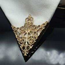 Hot Spike Stud Triangle Blouse Shirts Collar Clip Neck Tip Brooch Pin Chain Punk