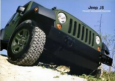 Jeep J8  2014 catalogue brochure armored Gepanzert Military Governement rare