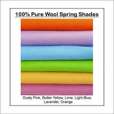 ECO Friendly 100% WOOL FELT WALDORF STEINER 6 squares spring shades 30cm x 25cm