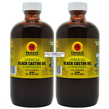 "Tropic Isle Living Jamaican Black Castor Oil 8 Oz ""Pack of 2"""