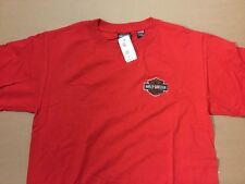 Harley Davidson embroidered bar and shield Red Shirt Nwt Men's Large