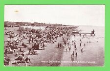 Vintage postcard . Southsea looking East, South Parade. Hampshire. Dated 1925