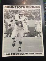 vintage Minnesota Vikings football 1984 Prospectus Program NFL book