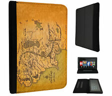 873 Lord of The Ring Map middle Earth Case Cover For Kindle Fire 7'' 2015