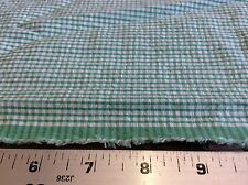 FABRIC FINDERS #S-46 GREEN SEERSUCKER GINGHAM -60 INCH WIDE--BY THE YARD