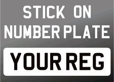 Pegar en coche 4x4 Blanco Y Negro Frente Auto Adhesivo Vehículo mostrar número de matrícula