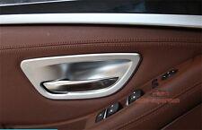 Matt Chrome Interior Door Handle Cover Frame Trim For BMW 5 Series F10 F11 2010+