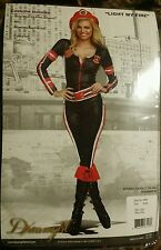 NEW LIGHT MY FIRE Firefighter Adult Halloween Women's Sexy Costume SIZE XL