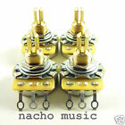 Set of 4 CTS 450G 500K Split Shaft Audio Taper 10% Tolerance Potentiometers Pots