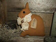 Primitive Butternut Netherland Dwarf Rabbit Bunny CISCO Folk Art made in the USA