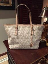 Michael Kors Jet Set Travel medium tote, handbag, Vanilla, NWT, NEW $258.00