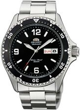 NUOVO Orient Mako II BLACK Automatic GENT'S WATCH faa02001b Immersione WR 200m