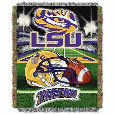 "LSU Home Field NCAA 48""x60"" Woven Tapestry Throw Blanket"