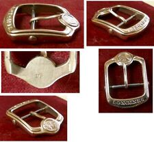 Longines large buckle double signed 9ct solid yellow gold