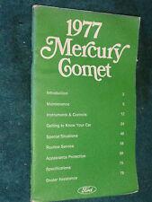 1977 MERCURY COMET OWNER'S MANUAL / OWNER'S GUIDE / ORIGINAL!!!