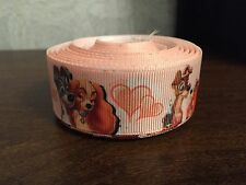 1m Lady And The Tramp Disney Movie 25mm Grosgrain Ribbon