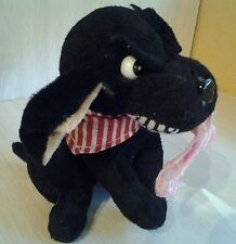 Black Plush Dog with Tough Looking Face