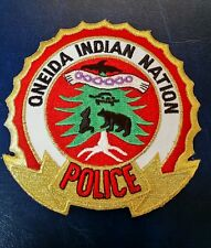 ONEIDA INDIAN NATION NEW YORK POLICE SHOULDER PATCH NY