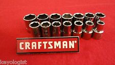 "CRAFTSMAN Socket Set 1/2"" drive MM METRIC 6pt 14pcs LASER ETCHED"