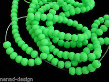 200 GLASPERLEN FROSTY SILK NUGGETS 3-4mm neon grün Perlen nenad-design S58
