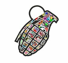 Old School JDM Style Grenade With COLOUR Stickerbomb Motif Drift JDM car sticker