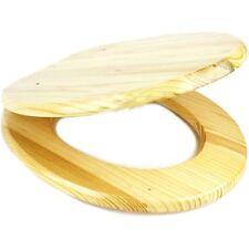 """Pino 18"""" Cuarto de Baño WC Asiento De Inodoro Universal De Mdf fácil ajuste accesorios de madera con C"""