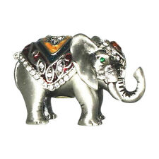 Welforth Pewter Silver Elephant Novelty Trinket Box Jewelry Box