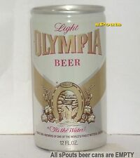 1980's OLYMPIA SILVER LIGHT BEER UNIQUE TEST CAN WASHINGTON RING-TAB HORSE SHOE