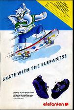 elefanten -- Schuhe - Skate with the Elefants- Gewinnaktion--Werbung von 1990--