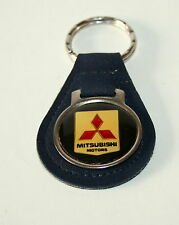 Vintage Mitsubishi Motors Automotive Car Black Key Chain FOB Tag 1970s NOS New