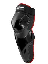Motocross Enduro rodilla Shin guardias y choque Junior Tamaño Off Road protección Negro