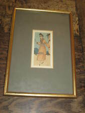 ART DECO F LORENZI PERIOD FRAMED PRINT OR DRAWING OF A  ELEGANT LADY