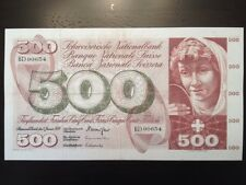 Reproduction 500 Franken Note Switzerland 1970 Suisse Francs Five Hundred