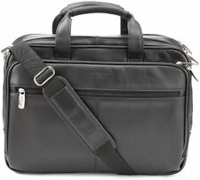 Kenneth Cole REACTION Leather Briefcase Messenger Bag Laptop Case Men Bags Mens