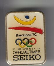 RARE PINS PIN'S .. OLYMPIQUE OLYMPIC BARCELONA 1992 MONTRE WATCH SEIKO TIMER ~17