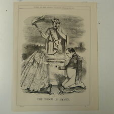 "7x10"" punch cartoon 1859 THE TORCH OF HYMEN napoleon III"