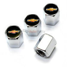 4 Chevy New Gold Bowtie Logo Chrome ABS Tire/Wheel Stem Air Valve Car Truck Caps