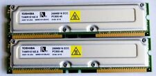 2x 256MB (512MB total) TOSHIBA PC800-45 RIMM RAMBUS RDRAM, TESTED