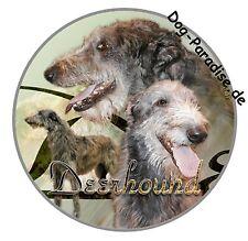 Design Aufkleber Deerhound Schottischer Hirschhund  Windhund 15cm Autoaufkleber